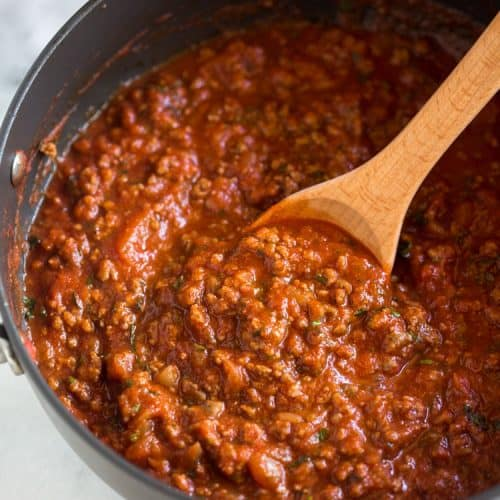Recipes - Easy Spaghetti Sauce with Meat